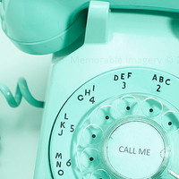 Vintage Rotary Telephone Photography Print by MemorableImagery