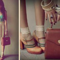 Aqua Corset Top From Thrift Shop, Vintage Purse From Bazaar, Vintage Shoes From Thrift Shop //    Vintage Lovin' 3 by Cheyser Pedregosa // LOOKBOOK.nu