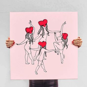 Love Dancers Canvas Print