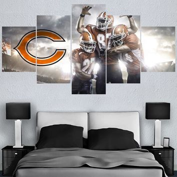 Rugby ball Logo Paintings Chicago Bears Modern Home Decor Living Room Bedroom Wall Art Canvas Print Painting Calligraphy