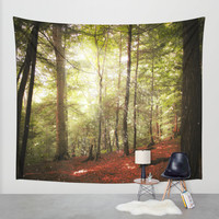 Magic Forest Wall Tapestry by Jenndalyn
