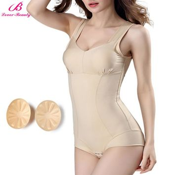 Lover-Beauty Body Shapers Women Overbust Underwear Push Up Padded Bodysuit Tummy Trimmer Shaping Corset Slim Shapewear Corselet