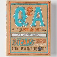 Q&A A Day For Kids: A Three Year Journal by Anthropologie Assorted One Size House & Home