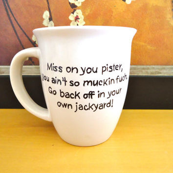 Personalized coffee mug, personalized quote, funny mug, hand painted coffee mug, coffee cup, tea cup, custom mug, personalized gifts