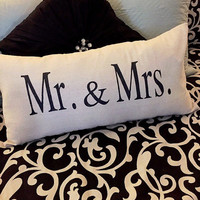 Mr. & Mrs. Pillow: 14x28 large envelope pillowcase and pillow