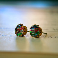 Kate Earrings vintage 1950's German glass jewels by orangejuniper