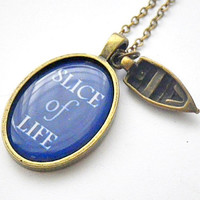 Dexter: Slice of Life fishing boat fan art photo resin pendant necklace