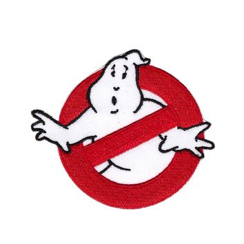 1Pcs Ghostbusters Patch Embroidered Iron on Ghost Buster Badge Movie EMBROIDERED 7.6*6.6cm Aanywell patch