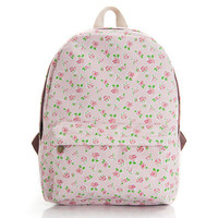 Stripes Cute Canvas Lovely Floral Animal Striped Plaid Korean Backpack = 4887776068