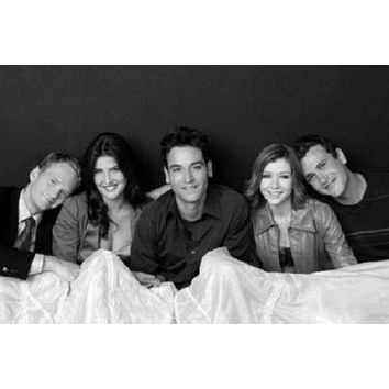 How I Met Your Mother Poster Standup 4inx6in black and white