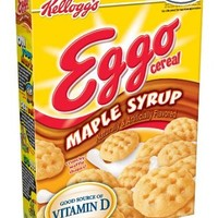 Eggo Cereal, Maple Syrup Waffles Shapes, 9.4-Ounce Boxes (Pack of 4)