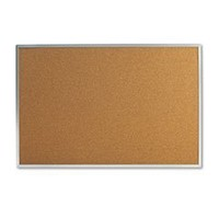 Universal 43613 Bulletin Board, Natural Cork, 36 x 24, Satin-Finished Aluminum Frame (1)