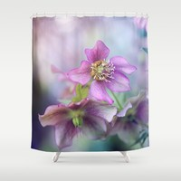 hellebore Shower Curtain by Sylvia Cook Photography