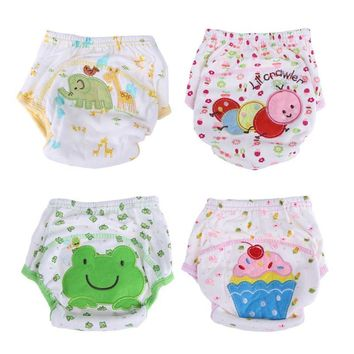 New Waterproof Baby Diapers Washable Cotton Cloth Diaper Cover Infant Cartoon Pattern Nappies Diapers Newborn Underpants