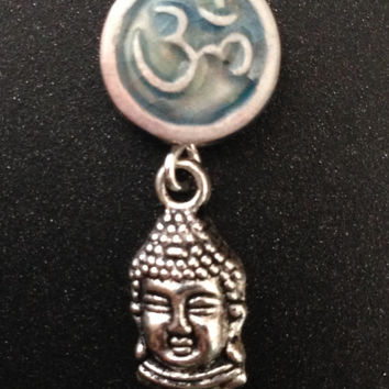 Homemade Ohm and Buddha Dangle Earrings