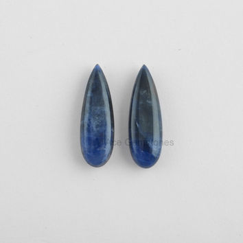 Gemstone Supplies Soldalite Loose Gemstone Long Pear Pair 8x25mm, Wholesale Gemstone