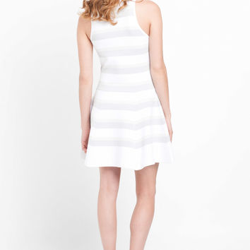 A.L.C. Huntington Dress in White & Grey