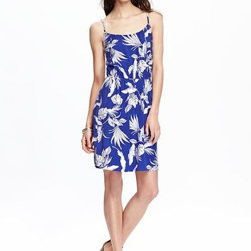 Old Navy Womens Poplin Cami Dresses