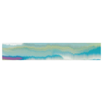 "Nina May ""Artika Blue"" Teal Purple Table Runner"