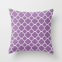 Velveteen Purple Quatrefoil Pillow - Valentine's Day - Purple Throw Pillow - Housewares - Home Decor