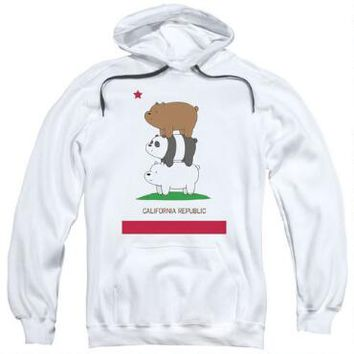 We Bare Bears Cali Stack Adult White Hoodie |
