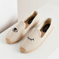 Soludos X Jason Polan Wink Embroidered Smoking Slipper | Urban Outfitters