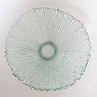 Vintage Ice Glass Fruit Bowl - by Pavel Panek Sklo Union