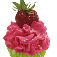 Sugared Strawberry Cupcake Bath Bomb
