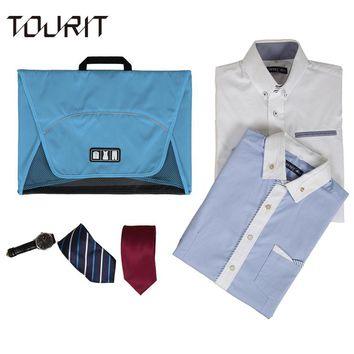 TOURIT 2017 New Travel Garment Folder Bag Business Shirt Packing Organizers Business Travel Accessories Travel Organizer For Tie