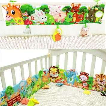 Baby Toys Soft Animal Cloth Books For Newborns 0-12 Months Infant Development Rustle Sound Educational Stroller Rattles Toy Bed