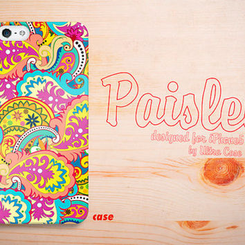 iPhone 5 Case, Paisley Pattern iPhone 5 Hard Case, Colorful iphone 5 Cover with iPhone hard case - PY1