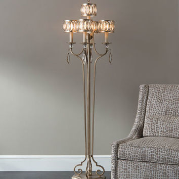 John-Richard Collection Marquise Crystal Floor Lamp