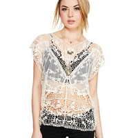 Crochet Everyday Blouse | Wet Seal