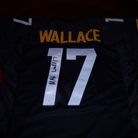 Mike Wallace Signed Autographed Pittsburgh Steelers Football Jersey (JSA COA)