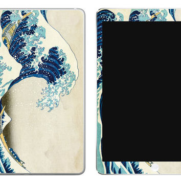 Japanese Great Wave of Kanagawa iPad Decal Skin iPad decal sticker iPad Cover Japanese Wave Hokusai Katsushika Japanese sticker Wave Ocean