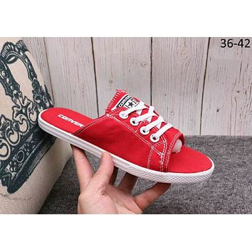 Converse 2018 trendy men's and women's fashion casual canvas slippers F-A36H-MY Red
