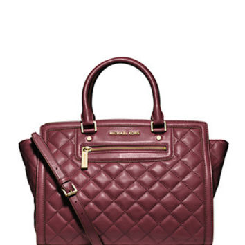Michael Michael Kors Large Selma Quilted Leather Satchel