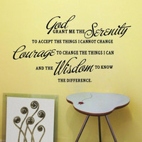 GOD GRANT ME THE SERENITY PRAYER BIBLE Art Quote Vinyl Wall Stickers Home Decal = 1706164100