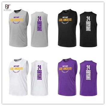 BONJEAN Design 24 Kobe Bryant Printing Jersey Top Quality Uniforms Sports Basketball Jerseys Breathable Training Shirts