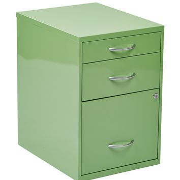 "Office Star Green 22"" Pencil, Box, Storage File Cabinet"