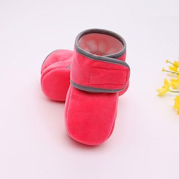 Winter Warm Shoes Infant Toddler Crib Shoes Soft Sole Floor Girls Boots