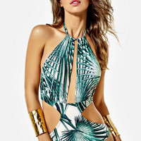 Fashion Casual Women Multicolor Stitching Pattern Print Beach Strappy Halter  Bikini Set Swimsuit Swimwear
