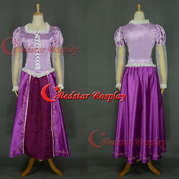 Disney Cosplay Tangled Rapunzel cosplay princess costume Rapunzel costume (Type C)