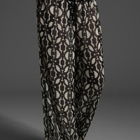 PATTERSON J. KINCAID Emmanuelle Wide Leg Pant in Black Multi Geo Print at Revolve Clothing - Free Shipping!