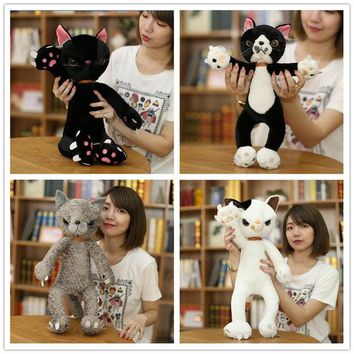 40CM/60CM Stuffed Cats Plush Toys Japan Scratch Kitten Peluche Sharp Paw Neko Soft Toy Children Kids Novel Gifts