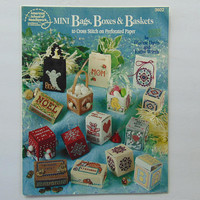 Mini Bags Boxes and Baskets to Cross Stitch on Perforated Paper Booklet