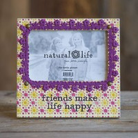 Picture  Frame:  Friends  Happy  Crochet  Wood  Frame    From  Natural  Life