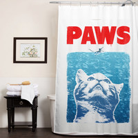 Crazy Cat Meow Paws Jaws Cute Cat  custom shower curtain