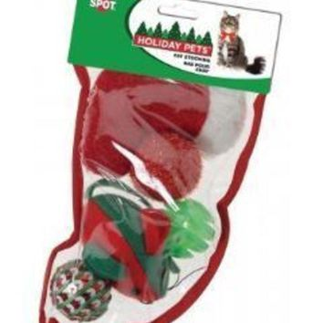 DCCKU7Q Ethical Holiday Cat Toy Stocking Small