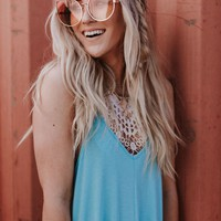 Disco Fever Ombre Sunglasses - Coral